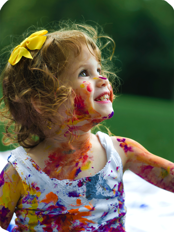 Child with Paint